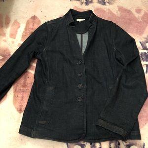 Eileen Fisher dark dressy denim jacket blazer